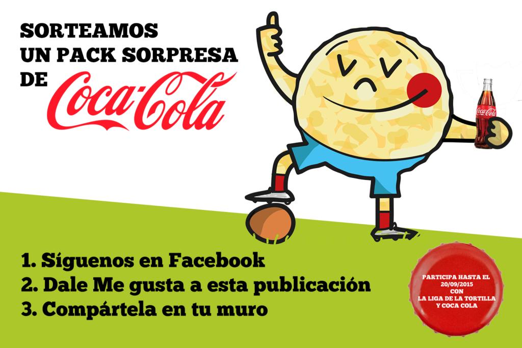 Bases del sorteo Pack especial Coca Cola en Facebook y en Twitter