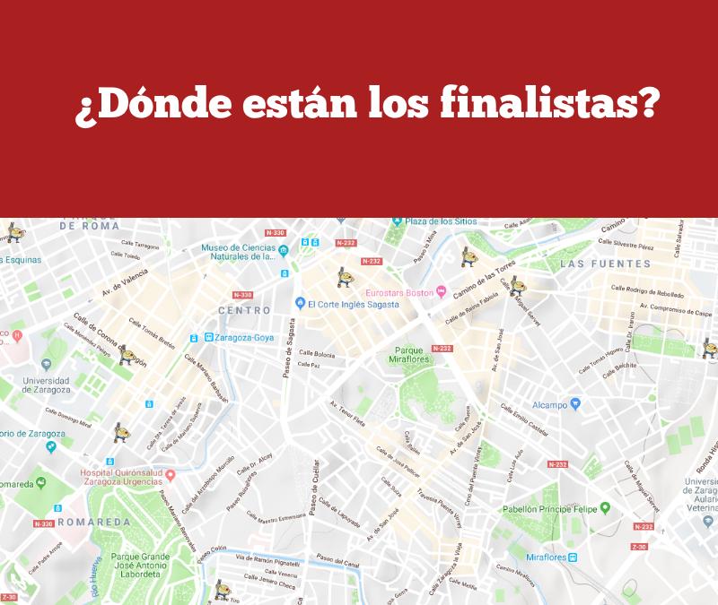 El mapa de la gran final. ¿Dónde están los finalistas de 2018?