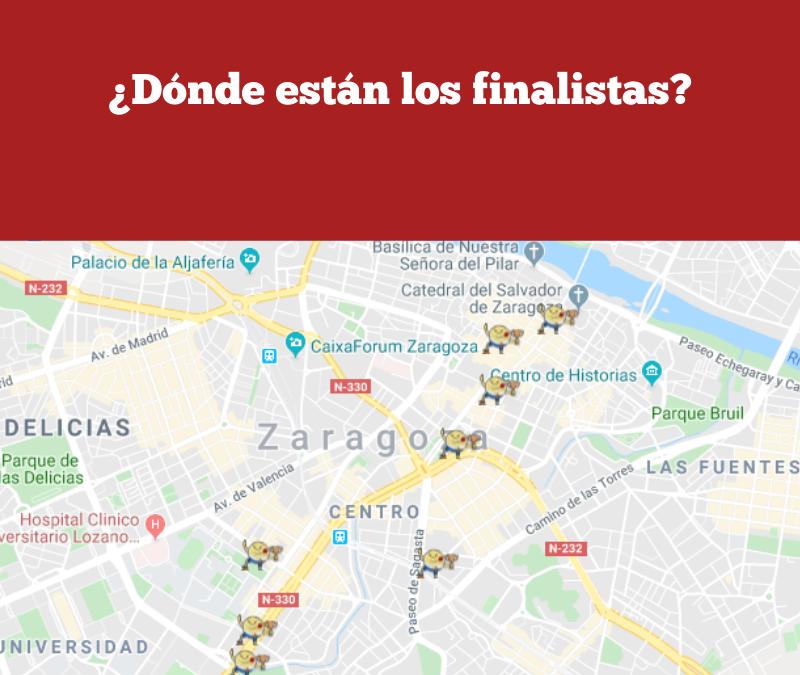 El mapa de la gran final. ¿Dónde están los finalistas de 2019?